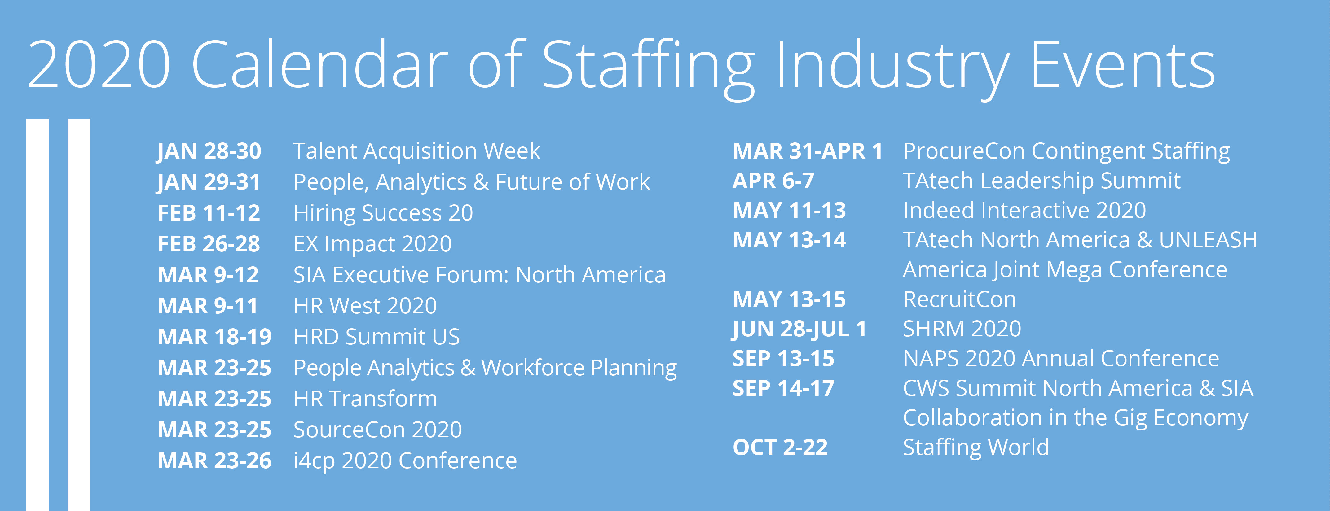 Image for 2020 Guide to Staffing Industry Events