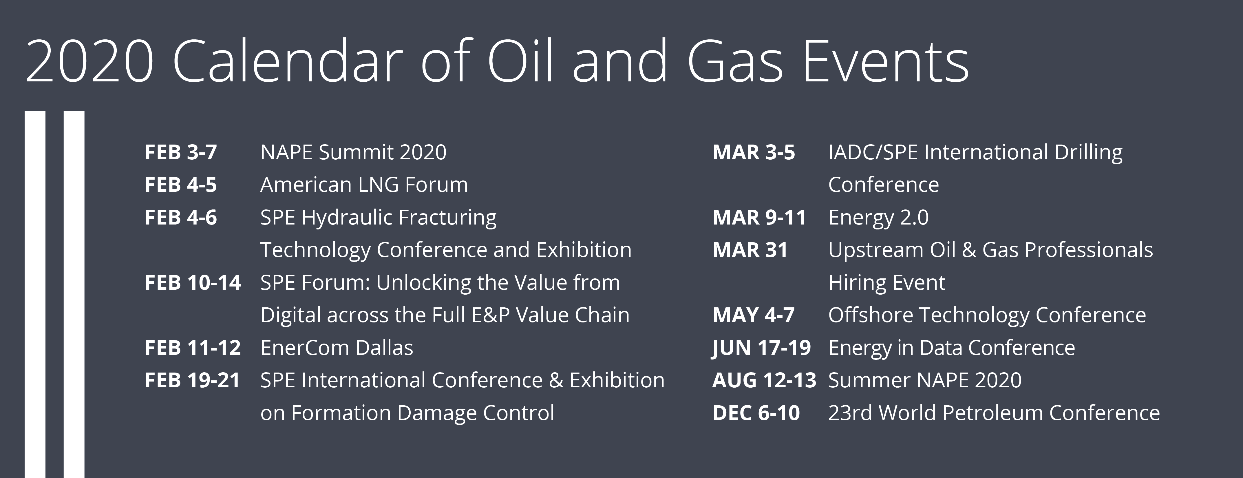 Image for 2020 Guide to Oil & Gas Events